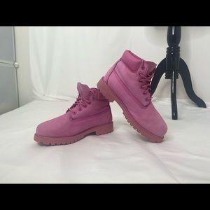 Juniors size 3 pink timberland boots